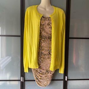 Old Navy NWOT yellow net cardigan sweater